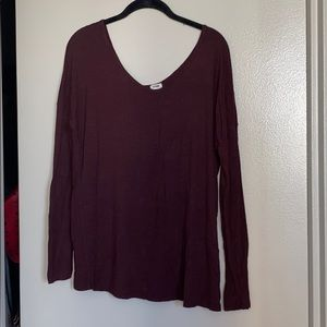 Merlot long sleeve